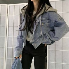 Korean Girl Fashion, Ulzzang Fashion, Kpop Fashion Outfits, Edgy Outfits, Mode Outfits, Grunge Outfits, Cute Casual Outfits, Simple Outfits, Pretty Outfits