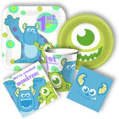 monsters inc party supplies   new but familiar look of Sully and Mike that perfectly matches a 1st ...