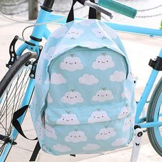 """Material:canvas Color:sky+blue Style:lovely Size:free+size High:40cm/15.6"""". Wide:30cm/11.7"""". Thick:15cm/5.85"""".  Tips: *Please+double+check+above+size+and+consider+your+measurements+before+ordering,+thank+you+^_^  Visiting+Store: Http://cuteharajuku.storenvy.com  Find+more+cute+fashi..."""