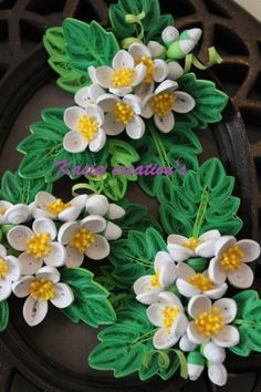 quilling apple flower - Google Search