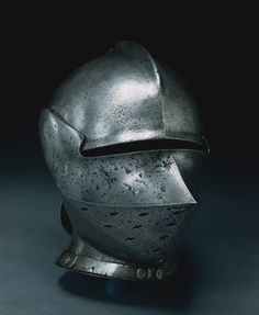 Armet à Rondelle, c. 1460 - 1475 Italy, Milan, 15th century steel, Overall - h:28.60 w:32.40 d:20.30 cm (h:11 1/4 w:12 3/4 d:7 15/16 inches) Wt: 3.10 kg.