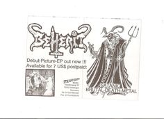 BEHERIT- 1ST 7'' (PICTURE DISC) WITH ORIGINAL FLYERS