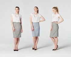 Download the sewing pattern here: http://etsy.me/1Ar8AHg The beauty of this Pencil Skirt lies in its simplicity. We have focused on clean, straight lines, ma...