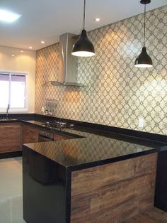 Demorei, mas voltei pra mostrar mais novidades da casa para vocês que estão sempre por aqui olhando, acompanhando e comentando... sério gen... Moduler Kitchen, Kitchen Cupboard Designs, Concrete Kitchen, Interior Design Kitchen, Kitchen Decor, Cottage Kitchens, Home Kitchens, Kitchen Island Dimensions, Home Upgrades