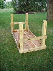 Building An Outdoor Workbench Or Work Table With 4x4 Legs And Angle Braces