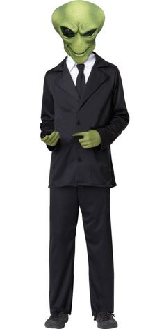 Boys Agent Alien Costume - Party City