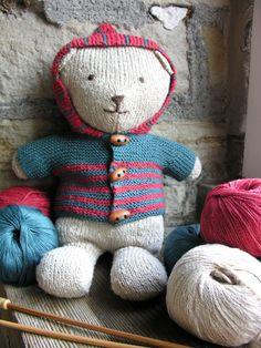 FREE Rowan knitted teddy bear pattern by Jem Weston - Black Sheep Wools