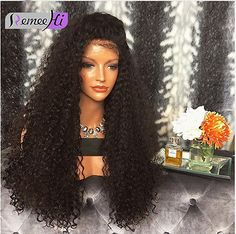 """12""""-22"""" Brazilian Kinky Curly Wig Full Lace/Lace Front Wig Indian Human Hair  in Health & Beauty, Hair Care & Styling, Hair Extensions & Wigs 