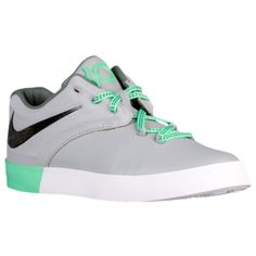 f63eba8d192e Nike KD Vulc 2 - Boys  Grade School - Wolf Grey Green Glow Tumbled  Grey Black