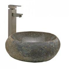 Natural River Stone Vessel Sink - Bathroom Sinks - Bathroom