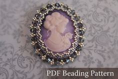 DIY Beading Tutorial Cameo Cabochon Brooch beaded cabochon