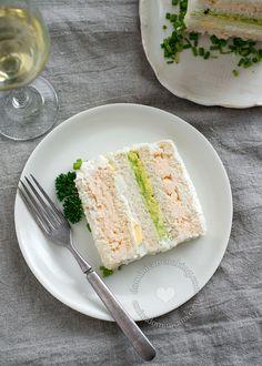 Shrimp Sandwichon (Sandwich Cake)