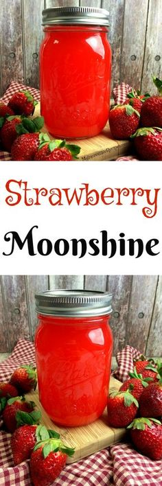 strawberry moonshine que es la dieta paleo que representa quien deb Party Drinks, Cocktail Drinks, Fun Drinks, Cocktail Recipes, Alcoholic Beverages, Bourbon Drinks, Alcoholic Punch, Recipes Dinner, Breakfast Recipes