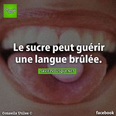 Sugar can heal a burnt tongue. Good To Know, Did You Know, French Expressions, Image Fun, Interesting Information, Psychology Facts, True Facts, Fact Quotes, Things To Know