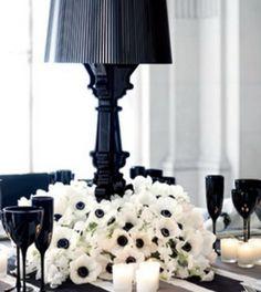 58 Elegant Black And White Wedding Table Settings Flower Centerpieces, Wedding Centerpieces, Wedding Decorations, Unique Centerpieces, Centrepieces, Centerpiece Ideas, Table Centerpieces, White Centerpiece