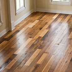 Creation Woodworks in MI; love this reclaimed floor! (mixed species of wood)
