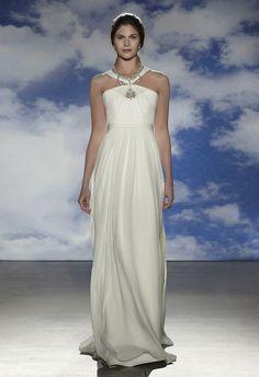 Vestidos de novia para gorditas de la colección 2015 de Jenny Packham incluye vestidos con corte imperio con tiras cruzadas