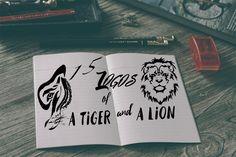 Ознакомьтесь с моим проектом @Behance: «Lion and tiger logo» https://www.behance.net/gallery/54943051/Lion-and-tiger-logo