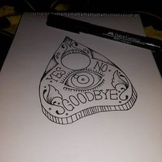 ouija planchette tattoo - Google Search