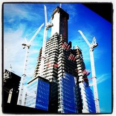 1st stages of construction of The Shard - soon to be Europe's tallest building