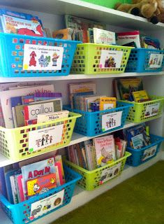 101 Ideas for Organizing the Classroom Library - Educational Images - Pre-school Bethany Ford Preschool Library, Preschool Rooms, Kindergarten Classroom, Daycare Rooms, Library Organization, Classroom Organisation, Organizing Books, Classroom Setting, Classroom Setup