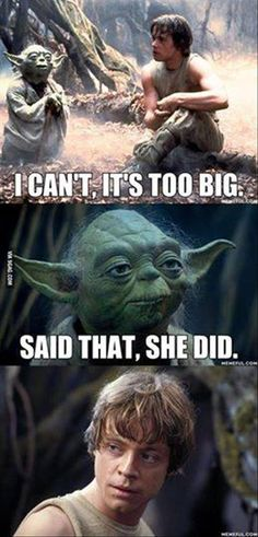 oh, Yoda...