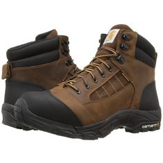 Carhartt Lightweight Waterproof Work Hiker (Brown Oil Tanned Leather)... (9.475 RUB) ❤ liked on Polyvore featuring men's fashion, men's shoes, men's boots, men's work boots, mens lace up boots, mens boots, mens waterproof leather boots, mens leather boots and mens brown leather lace up boots