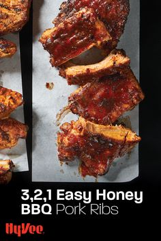 You'll have tender pork ribs in 3, 2, 1... Smoke extra-meaty pork loin back ribs and coat with brown sugar, honey, and barbecue sauce. Pork Loin Back Ribs, Bbq Pork Ribs, Ribs On Grill, Chicken And Veggie Recipes, Smoked Pork Ribs, Honey Bbq, Good Burger, Barbecue Sauce, Recipe Using