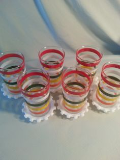 Six vintage Anchor Hocking tumblers mint condition by tabletune, $25.00