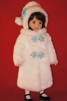 OOAK Fur Coat and Hat for Dianna Effner 13 Little Darling