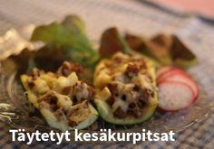 Täytetyt kesäkurpitsat #kauppahalli24 #ruoka #resepti #kesäkurpitsa
