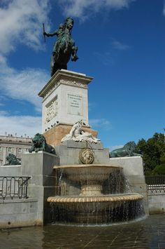 Monument to Philip IV of Spain at the Plaza de Oriente (square) in Madrid