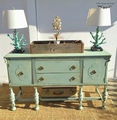 D.D.'s Cottage and Design: Buffet in MMS milk paint-Eulalie's Sky