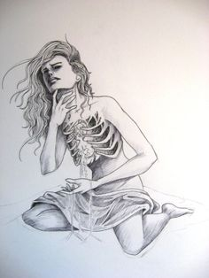 """""""bleeding sand from an hourglass heart"""" Drawing I did a LONG time ago, but never really finished.so heres the unfinished piture anyway enjoy Hourglass heart Sad Sketches, Sad Drawings, Cool Art Drawings, Drawing Sketches, Angel Drawing, Body Drawing, Hourglass Drawing, Woman Body Sketch, Art Painting Gallery"""