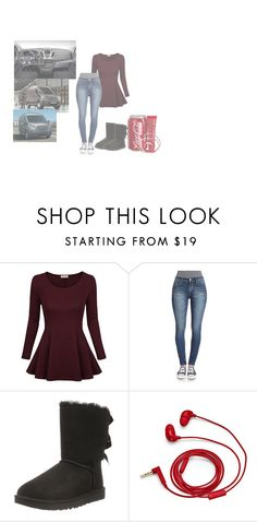 """""""picking up kitty - felicia"""" by ikabarrtikabarr ❤ liked on Polyvore featuring UGG, Anatomicals and FOSSIL"""
