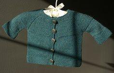 Ravelry: garter yoke baby cardi pattern by Jennifer Hoel