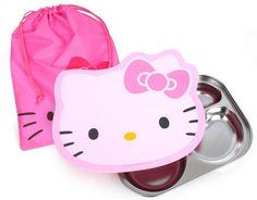 Hello Kitty Stainless Steel Food Snack Tray Airtight lid hygienic lunch box tray #HelloKitty