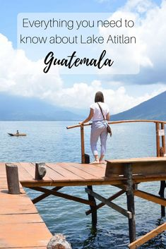 Lake Atitlan is often described as one of the most beautiful lakes on earth. Now this might be an exaggeration, but it's pretty damn special. It is a lake surrounded by volcanos and cute little villages