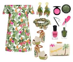 """Tropical Pink And Green"" by siriusfunbysheila1954 ❤ liked on Polyvore featuring Dolce Vita, Kayu, BillyTheTree, Lancôme, MAC Cosmetics, Deborah Lippmann and NARS Cosmetics"