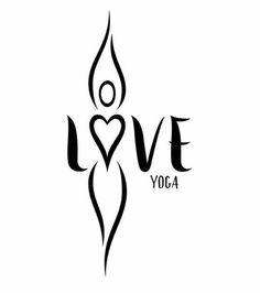 Love Yoga logo. Brush lettering / Black ink. https://www.facebook.com/Love-Yoga-433222156869123/?fref=ts