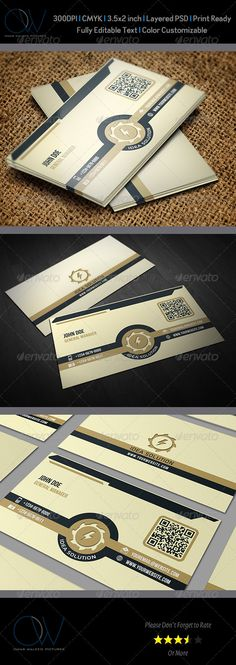 Buy Corporate Business Card by OWPictures on GraphicRiver. Business Card Description: Corporate Business Card was designed for exclusively corporate and small scale com.