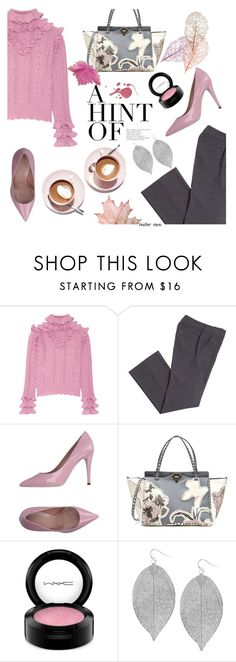 """Pink Fall"" by heather-reaves ❤ liked on Polyvore featuring Gucci, Valentino, Martha Stewart, MAC Cosmetics and Humble Chic"