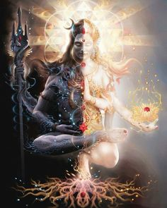 Art is a tool for transformation, on both a personal and planetary level. View imagery of Shiva, Shakti, and Tantra, including the Tantric Marriage. Arte Shiva, Shiva Art, Hindu Art, Shiva Shakti, Art Visionnaire, Lord Shiva Hd Images, Lord Shiva Hd Wallpaper, Lord Shiva Painting, Hindu Deities