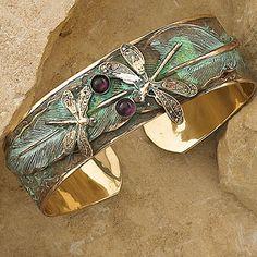 Dragonfly Feather Cuff Bracelet