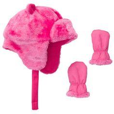 Faux Fur Pilot Hat Set