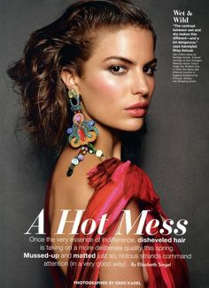 Cameron Russell - Allure 2012 by Greg Kadel Cameron Russell, Greg Kadel, Beauty Trends, Beauty Hacks, New Hair, Your Hair, Beauty Magazine, Hairline, Hair Looks