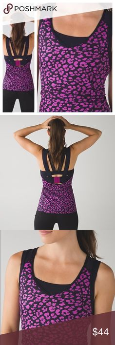 NWT Lululemon Super Sport Tank New with tags super sport tank. Cute print and great color. Provides medium support for a C/D cup. Luxtreme fabric is sweat-wicking and four-way stretch. Wide shelf band for support. Adjustable back closure for the perfect fit. lululemon athletica Tops