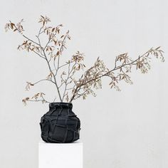 Dutch designer Pepe Heykoop has worked with people from one of Mumbai's poorest areas to transform traditional water carriers into leathery vases.