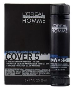 Loreal Homme Cover 5 - Ammonia Free 5-minute Color for Men (4 Dark Brown) -- You can find more details by visiting the image link. #hairdressing