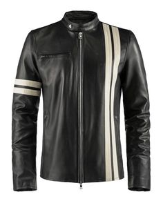 Driver – He might have been in a coma, but he still looked great. Our replica jacket worn by character John Tanner in Driver : San Francisco goes beyond pixels and into the highest quality Italian leather. Complete with a black lining and a café racer style contrasting leather stripe. Playing chicken will never be the same. Just try and keep it under 160kph.